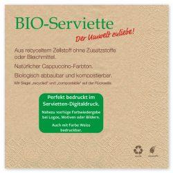 Neuheit, die BIO-Serviette