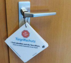 Unsere Neuheit: <br>DER TÜRGRIFFSCHUTZ